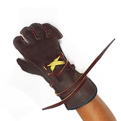 Elk Skin Bull Riding Glove