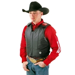 Lambert Master Pro Bull Riding Vest - Black Leather