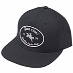 Barstow Curved Bill Trucker Cap - Black Fabric with Patch