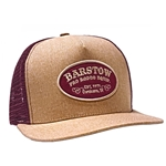 Barstow  Trucker Cap - Tan/Cardinal with Patch