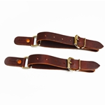 "Bareback and Bull 1"" Leather Spur Straps"