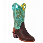 Barstow Arena Collection Riding Boots - Antique Mahogany/Fango Turquoise