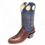 Barstow Arena Collection Riding Boots - Walnut/Fango Turquoise